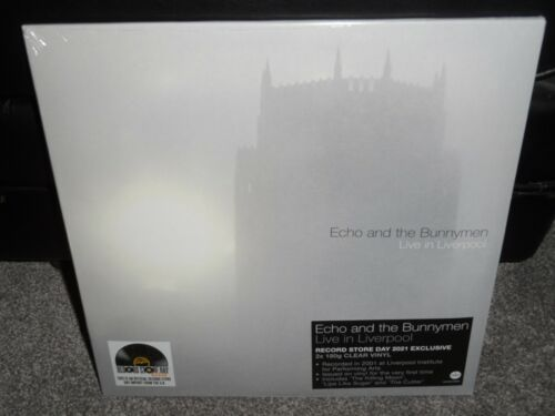 Echo and the Bunnymen Live in Liverpool 2021 RSD LP Clear Vinyl BRAND NEW