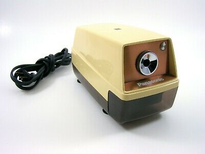 Vtg Panasonic Electric Pencil Sharpener Kp-33 Auto-stop Suction Cup Feet Japan