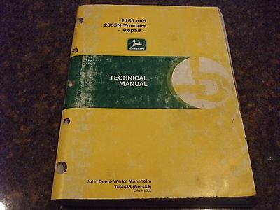 John Deere 2155 2355n Tractor Technical Service Shop Repair Book Manual Tm4435
