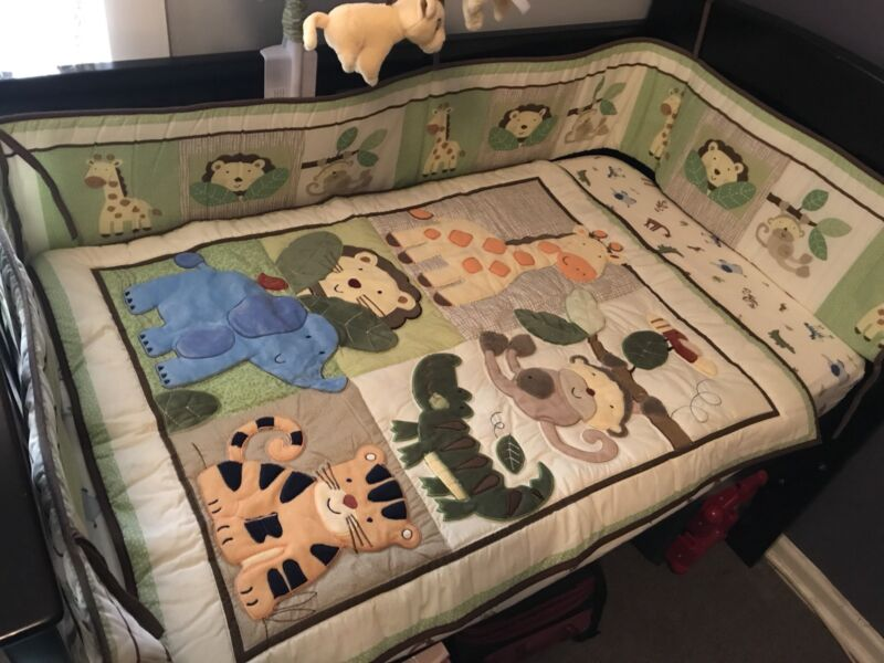 jungle theme baby cot quilt set cots bedding gumtree australia
