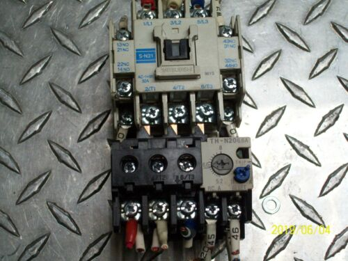 MITSUBISHI S-N21 CONTACTOR with TH-N20 OVERLOAD RELAY 5.2-8A