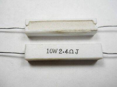 2.4 Ohm 10 Watt 5 Cement Power Resistor Nosnew Old Stockqty 10 Ead4