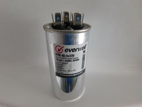Dual Run 40/5 MFD 370vac Electric Motor Run Oil Filled Capacitor uf HVAC 40-5