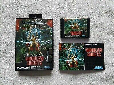 jeu complet (notice PAL) ghouls'n ghosts megadrive, reproduction
