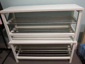 IKEA QUALITY SHOE RACKS WHITE (2) AS NEW ASSEMBLED Bondi Beach Eastern Suburbs Preview