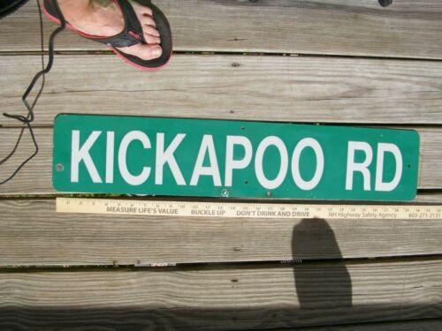 Vintage KICKAPOO RD. Sign,2 SIDED