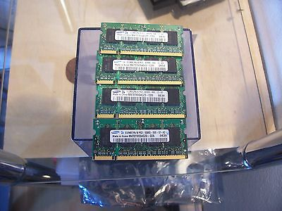 2GB (4x512MB) NOTEBOOK SPEICHER - SAMSUNG - DDR2 - PC4200s - 533Mhz - SODIMM - 533 Sodimm 512mb Notebook Speicher