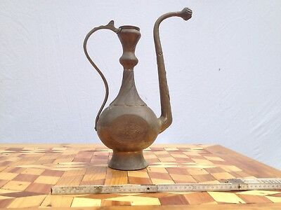 Old Arab Jug Brass Grosskanne Chiselled without Lid