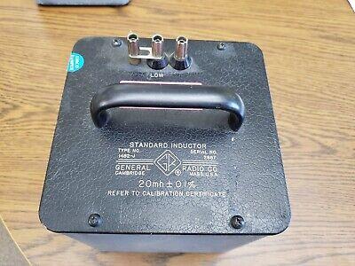 General Radio 1482-j Standard Inductor 20mh - 0.1 - Tested Genrad