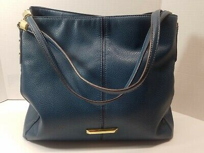ANNE KLEIN Blue Satchel Purse Tote Bag Handbag