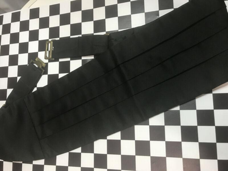 Christian Dior All Silk Pleated Adjustable Black Cummerbund for Tuxedo