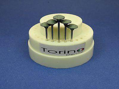 Dental Lab Acrylic Burs Conic Inverted Hp Green Kit 5 Pcs Torino Jewelry