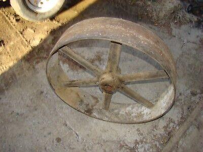 Flat Belt Pulley 27 34 X 6 14 X 2 Bore Steam Punk Gas Engine Hit Miss Sawmill