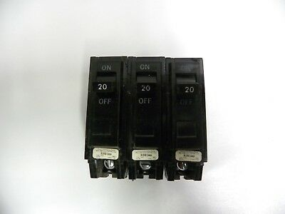 Lot 3 Ge Type Tql-ac Circuit Breakers 1 Pole 20amp 120240v A6