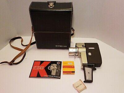Keystone K - 430 Zoom Electric Drive 8MM Movie Camera Case, Film Clean