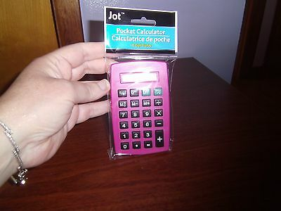NEW--Pocket Calculator--(PINK)
