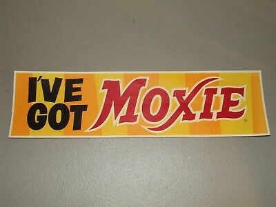 Rare 1950S Moxie Soda Country General Store Window Decal Sign  Ive Got Moxie