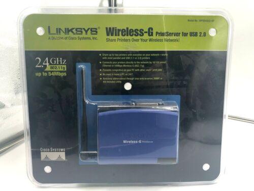 LINKSYS CISCO WIRELESS-G PRINT SERVER FOR USB 2.0 WPS54GU2-BP 2.4 GHz 802.11g