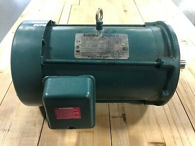 Reliance Electric Motor Sabre 230480v 3 Phase 5hp 3490 Rpm 184tc Frame