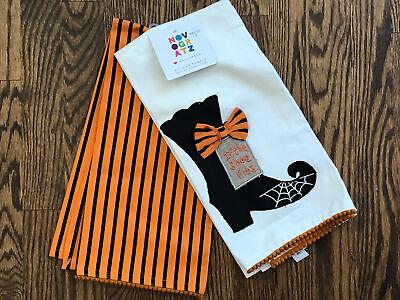 NEW! NOVOGRATZ Halloween Kitchen Towels - Set Of 2