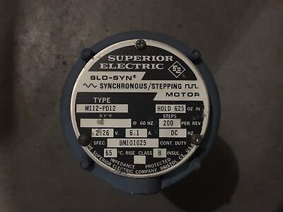 Superior Electric M112-pd12 Slo-syn 2.26vdc 6.1a 200 Stepsrev 625 Oz.in.