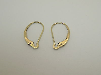 Solid 14k Yellow Gold Interchangeable Lever Back Findings Made In USA