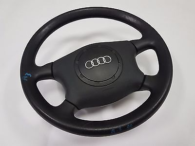 AUDI A3 S3 4 Spoke Steering Wheel Black with Airbag in working condition