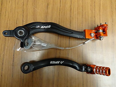 New KTM SXF EXC 250/400/350/450/500/530 07-15 Rear Brake & Gear Pedal Lever Set