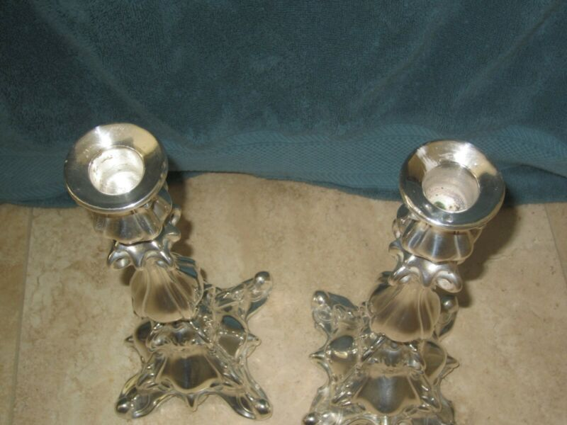 Pair of Norblin Silver Plated Sabbath Candle Sticks