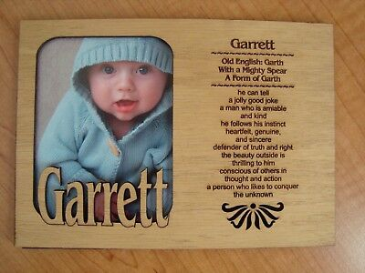 Personalized Wood BABY NAME Engraved 5x7 PICTURE Frame MATTE Shower Gift  NEW ()