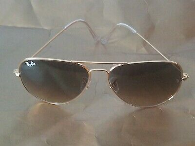 Ray Ban RB3026 62MM Aviator Unisex Sunglasses Gold Frame/Brown Gradient Lens