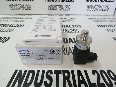 Wika A-10 Pressure Transmitter 50398083 New In Box