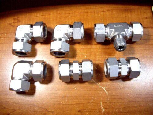 "NEW - SWAGELOK 1"" Union Tee - Elbows  - Couplings - 316 Stainless Steel"
