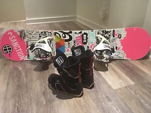 Youth Snowboard with Boots and Bindings