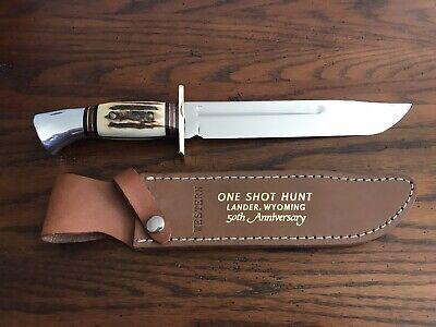 "Western Cutlery W46-8 N ""One Shot Hunt"" 50th Anniversary Knife"