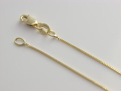 Real solid  18kt gold  box chain 18k necklace with lobster clasp (Box Chain Lobster Clasp)