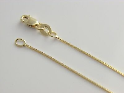 Real solid  18kt gold  box chain 18k necklace with lobster clasp
