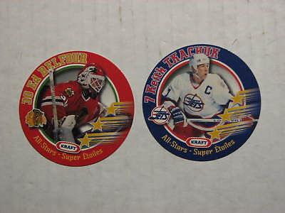 1995-96 Kraft Hockey Disc lot - Ed Belfour + Keith Tkachuk