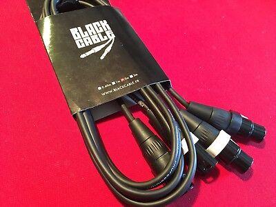 Black BCA1018 Cable Kabel, Trageriemen 2 m XLR-XLR-f