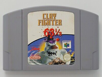 Clay Fighter 63 1/3 for Nintendo 64 N64 PAL *100% GENUINE* CART ONLY