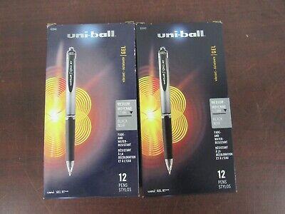 Uni-ball Signo Gel Rt Retractable Pens Medium Point 0.7 Mm Black 2boxes 49c