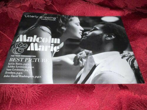 MALCOLM & MARIE BOOKLET FYC PROMO ZENDAYA John David Washington