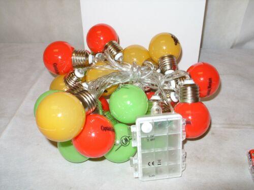 Captain Morgan Spiced Rum - Promo Holiday Decor String of Lights - 24 Bulbs NOS