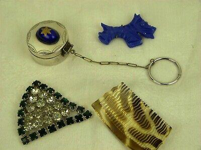 1930s Handbags and Purses Fashion VINTAGE 1920s 1930s ART DECO LOT, SMALL ITEMS SCOTTIE SWANS PUFF SILVER BOX ETC. $57.28 AT vintagedancer.com