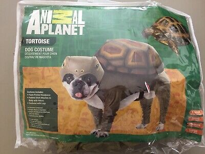 Tortoise Halloween Costume (Animal Planet Tortoise Medium Dog Halloween Costume Foam Padded With Legs )