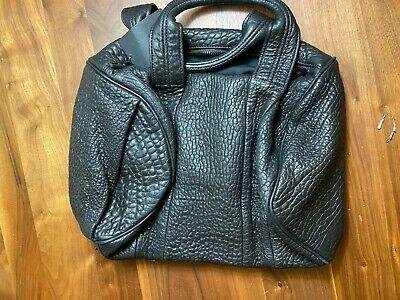 Rare Alexander Wang Rocco Pebbled Leather Black Bag 1st Generation