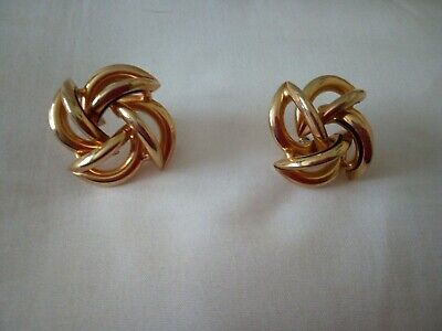 Used, Large Pierced Gold Colour Metal Earrings  for sale  Shipping to Nigeria