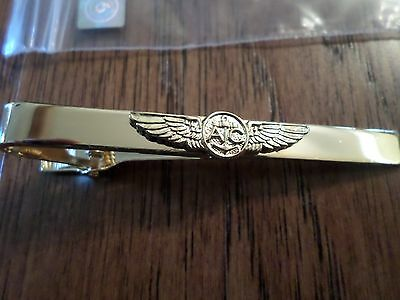 U.S MILITARY NAVY TIE BAR TIE TAC  NAVAL AVIATION AIR CREW WINGS CLIP ON