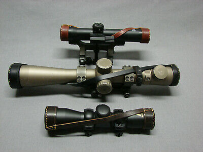 RIFLE SCOPE LEATHER PROTECTIVE COVERS ()