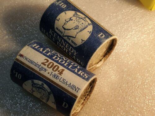 2004-D Kennedy half dollar BU roll (20 pieces) in US Mint wrap